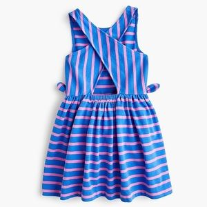 Crewcuts Girls' Cross-Back Dress in Stripes